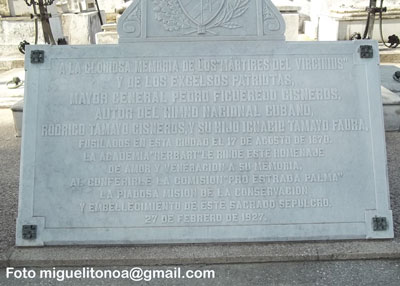 Recuerdan a Perucho Figueredo en Santiago de Cuba. Foto miguelitonoa@gmail.com