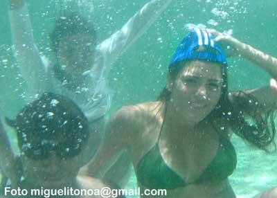 La playas que bañan las costas santiagueras fueron otra opción recreativa  importante durante el verano. Foto miguelitonoa@gmail
