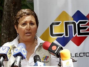 Presidenta del Poder Electoral, Tibisay Lucena