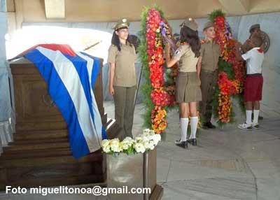 En la Ceremonia  participaron alumnos de la Escuela Militar Camilo Cienfuegos de Sancti Spiritus y cadetes del Instituto Técnico Militar José Martí, orden Antonio Maceo y Carlos J. Finlay. Foto miguelitonoa@gmail.com