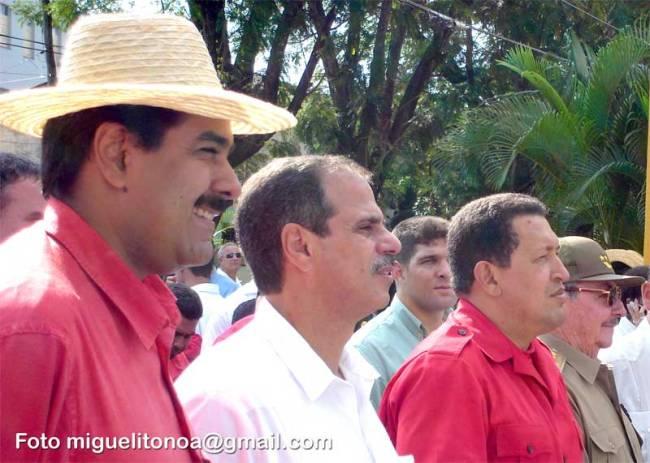 Nicolás Maduro en el antiguo Cuartel Moncada en visita realizada junto al Presidente venezolano Hugo Chávez en el 2007. Foto miguelitonoa@gmail.com