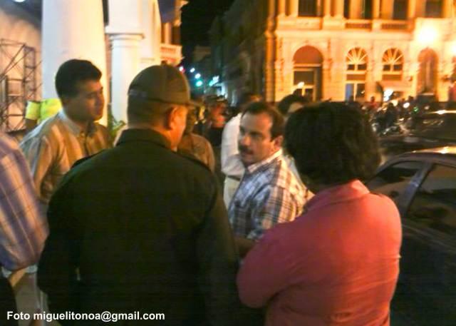El Héroe Cubano Fernando González Llort fue recibido hoy por Raúl Fornés, presidente del Gobierno en el municipio cabecera. Foto miguelitonoa@gmail.com